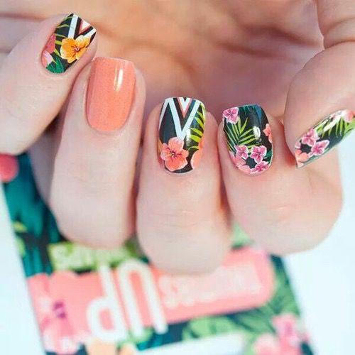 Palmy, kwiaty, wakacyjne wzorki!