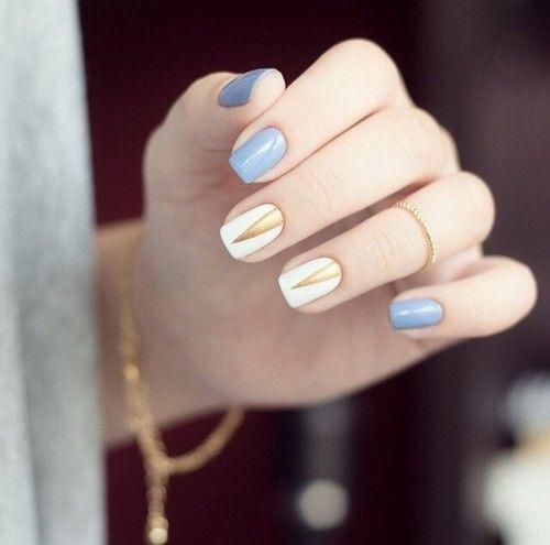 Wzorek na białych paznokciach