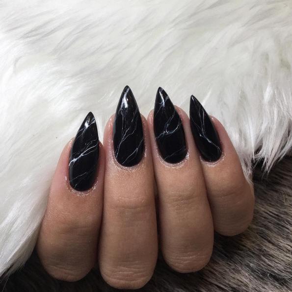 Marble nails - marmurkowe paznockie!