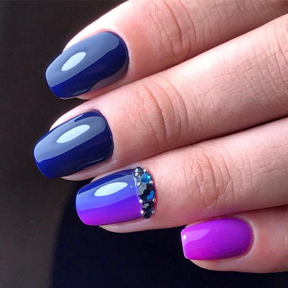 Niebiesko-fioletowe ombre